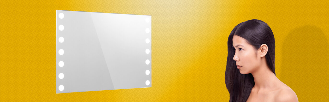 Lighted Mirror Insert